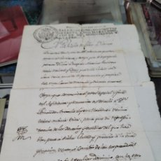 Coleccionismo Papel Varios: DOCUMENTO PODER ESPECIAL BLAZQUEZ ALCAINA VELEZ BLANCO ALMERIA LORCA MURCIA S XIX 1804. Lote 295922813