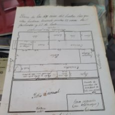 Coleccionismo Papel Varios: PLANO CASA EN EL ESCOBAR POSIBLEMENTE VELEZ BLANCO O VELEZ RUBIO ALMERIA. Lote 295924943