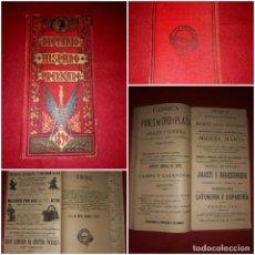 Coleccionismo Papel Varios: DIETARIO HISPANO AMERICANO C.COLON 1890 SALVATELLA BARCELONA ( PUBLICIDAD, GUIA MADRID...). Lote 296004698