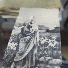 Altri oggetti di carta: ANTIGUA ESTAMPA RELIGIOSA ORDENACION Y PRIMERA MISA TENZA RIQUELME ABANILLA MURCIA 1949. Lote 297061963