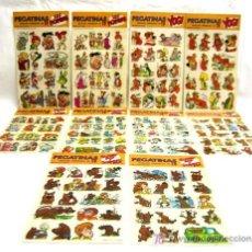 Pegatinas de colección: 10 HOJAS PEGATINAS LOS PICAPIEDRA OSO YOGUI SCOOBY DOO HANNA BARBERA DIBUJOS ANIMADOS TV AÑOS 70. Lote 278371023