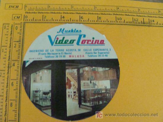 PEGATINA DE MUEBLES VIDEO COCINA MÁLAGA. AÑOS 80. PERFECTO.