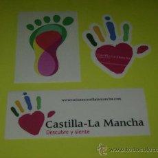 Pegatinas de colección: 3 PEGATINAS CASTILLA LA MANCHA. Lote 9963320