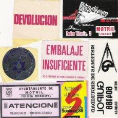 Pegatinas de colección: LOTE SURTIDO DE PEGATINAS---TEMAS DIVERSOS---10 PEGATINAS. Lote 10615735