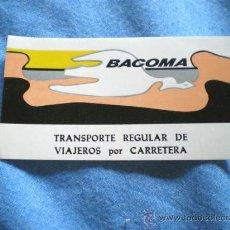 Pegatinas de colección: PEGATINA BACOMA TRANSPORTE REGULAR. Lote 15260666