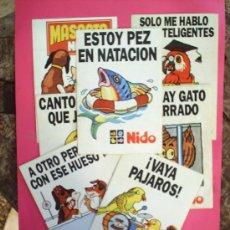 Pegatinas de colección: PEGATINA - CONJUNTO DE 7 PEGATINAS PROPAGANDA NIDO , DIFERENTES. Lote 15388546