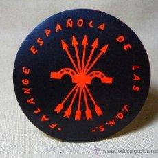 Pegatinas de colección: PEGATINA CIRCULAR, FALANGE ESPAÑOLA, DE LAS JONS, J.O.N.S., MEDIDAS: 7.5 CM. Lote 21357487