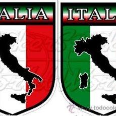 Pegatinas de colección: PEGATINA VINILO BANDERA ITALIA - 3 X 4 CMS. (2 UNIDADES). Lote 177369268