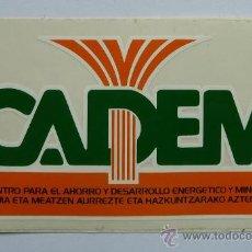 Pegatinas de colección: PEGATINA CADEM. CENTRO PARA EL AHORRO Y DESARROLLO ENERGETICO Y MINERO, ANTIGUA. Lote 27770229