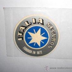 Pegatinas de colección: PEGATINA ADHESIVO SEGUROS ITALIA. Lote 27957126
