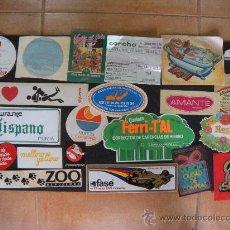Pegatinas de colección: PEGATINAS. LOTE DE 21 DISTINTAS. Lote 28346807