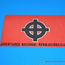 Pegatinas de colección: PEGATINA TRANSICION JNR JUVENTUDES NACIONAL REVOLUCIONARIAS ORGANIZACION NEONAZI ESPAÑOLA 70/80. Lote 31183533