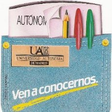 Pegatinas de colección: PEGATINA - UNIVERSIDAD AUTONOMA DE MADRID. Lote 31353355