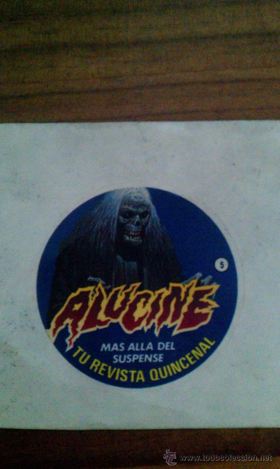 PEGATINA REVISTA ALUCINE Nº 5. COMIC TERROR EDITORIAL BRUGUERA 1985 (Coleccionismos - Pegatinas)