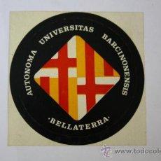 Pegatinas de colección: PEGATINA DE AUTONOMA UNIVERSITAS BARCINONENSIS BELLATERRA. Lote 32554820