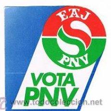 Pegatinas de colección: PEGATINA ADHESIVO DEL PNV. Lote 32690843
