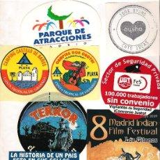 Pegatinas de colección: .9 PEGATINAS - ADHESIVOS VARIOS TEMAS. Lote 33097373