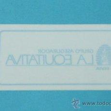 Pegatinas de colección: PEGATINA GRUPO ASEGURADOR LA EQUITATIVA. Lote 33532042