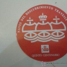 Pegatinas de colección: PEGATINA QUINTO CENTENARIO. Lote 33565486