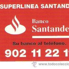 Pegatinas de colección: PEGATINA COMERCIAL - SUPERLINEA SANTANDER - SIN DESPEGAR. Lote 34214418