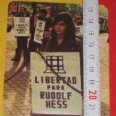 Pegatinas de colección: PEGATINA POLITICA CEDADE AÑOS 70 RUDOLF HESS. Lote 34595633