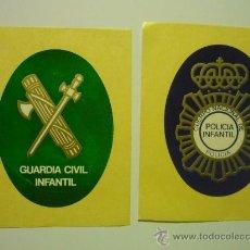 Pegatinas de colección: LOTE PEGATINAS-DHESIVOS FUERZAS SEGURIDAD G.CIVIL -POLICIA. Lote 37390477