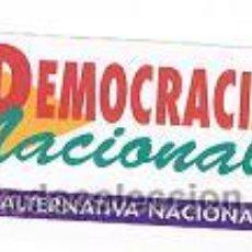 Pegatinas de colección: PEGATINA DEMOCRACIA NACIONAL. Lote 36231521