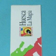 Pegatinas de colección: PEGATINA HUESCA, LA MAGIA. FORMATO 5 X 20 CM. Lote 38243026