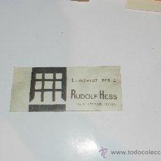 Pegatinas de colección: (285) PEGATINA POLITICA - LLIBERTAT PER A RUDOLF HESS , DESPEGADA. Lote 38498535