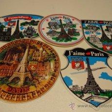 Pegatinas de colección: ADHESIVO / PEGATINA. J'AIME PARIS. CONJUNTO DE 5 PEGATINAS. A ESTRENAR.. Lote 39030268