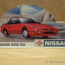 Pegatinas de colección: ADHESIVO / PEGATINA NISSAN SX 200. NUEVO SIN DESPEGAR. 21 X 10 CM.. Lote 39667456