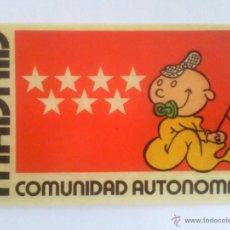 Pegatinas de colección: PEGATINA COMUNIDAD AUTONOMA DE MADRID. Lote 39652124