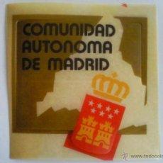 Pegatinas de colección: PEGATINA COMUNIDAD AUTONOMA DE MADRID. Lote 39652220