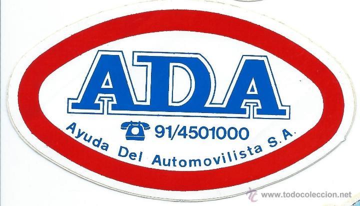 PEGATINA ADHESIVO ANTIGUA COCHES - ADA - AYUDA DEL AUTOMOVILISTA - AÑOS 80 (Coleccionismos - Pegatinas)