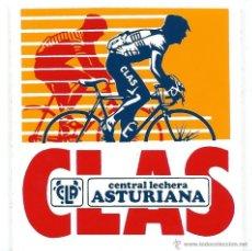 Pegatinas de colección: PEGATINA ADHESIVO CICLISMO CLAS (CENTRAL LECHERA ASTURIANA) - AÑOS 80. Lote 51742213