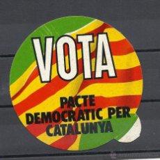 Pegatinas de colección: PEGATINA POLITICA, VOTA PACTE DEMOCRATIC PER CATALUNYA. Lote 40040658