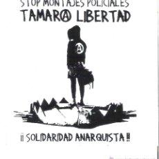 Autocollants de collection: PEGATINAS POLITICAS - 1 PEGATINA POLITICA CNT-AIT - STOP MONTAJES POLICIALES . TAMARA LIBERTAD. Lote 48006867