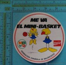 Adesivi di collezione: PEGATINA DEL XXV ANIVERSARIO DEL MINI BASKET 1963 1988. FEB. MB. AÑOS 80. Lote 42033069