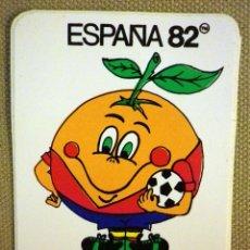 Pegatinas de colección: PEGATINA MASCOTA ESPAÑA MUNDIAL 82 NARANJITO, 1979. Lote 42722544
