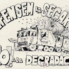 Autocolantes de coleção: PEGATINA - ADHESIVO - DEFENSEM LA SEGARRA - AÑOS 90 - NO A LA DEGRADACIO .-. Lote 43567028