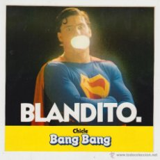 Pegatinas de colección: PEGATINA ADHESIVO CHICLE BANG BANG SUPERMAN AÑOS 80. Lote 43598141