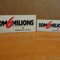 Pegatinas de colección: ADHESIVO / PEGATINA. SON 6 MILIONS. SIN DESPEGAR. DIFÍCILES.. Lote 43649582