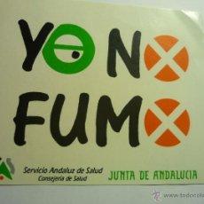 Pegatinas de colección: PEGATINA ADHESIVO YO NO FUMO.-SERVICIO ANDALUZ DE SALUD. Lote 44429539