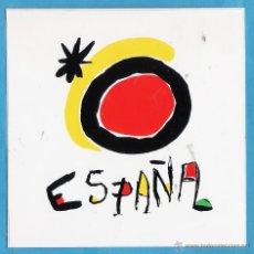 Autocollants de collection: ADHESIVO / PEGATINA - PUBLICITARIA - LOGOTIPO ESPAÑA - AÑO DEL TURISMO - JOAN MIRO - NUEVA SIN PEGAR. Lote 44432534