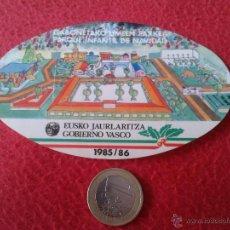 Pegatinas de colección: ANTIGUA PEGATINA POLITICA INSTITUCIONAL GOBIERNO VASCO 1985 / 86 PARQUE INFANTIL DE NAVIDAD . Lote 45187115