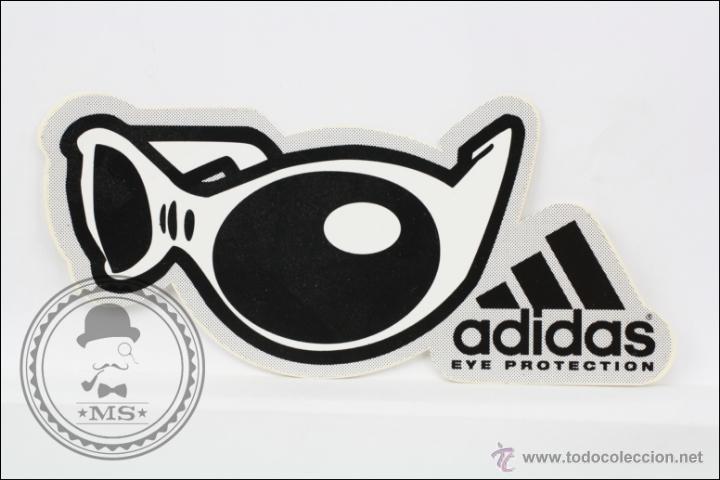 Pegatina / Adhesivo - Gafas Adidas. Eye Protection - Publicidad - Medidas 13 x 5,5 Cm segunda mano