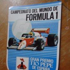 Pegatinas de colección: ANTIGUA PEGATINA AÑOS 80S TIO PEPE FORMULA 1 CAMPEONATO MUNDO. Lote 45307764