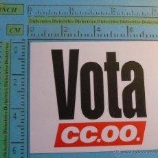 Pegatinas de colección: PEGATINA ADHESIVO POLÍTICO SINDICAL. CCOO COMISIONES OBRERAS. Lote 45442468