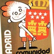 Pegatinas de colección: . PEGATINA MADRID COMUNIDAD AUTONOMA. Lote 45866334