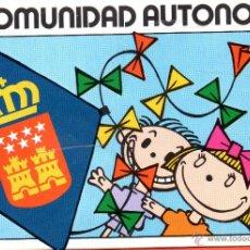 Pegatinas de colección: . PEGATINA MADRID COMUNIDAD AUTONOMA. Lote 45866414